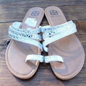 9.5 white strappy sandal